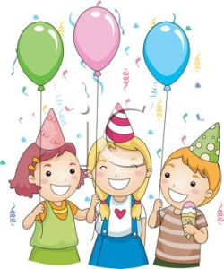 0511-1302-1511-5728_picture_of_three_children_celebrating_and_holding_balloons_at_a_party_in_a_vector_clip_art_illustration_clipart_image